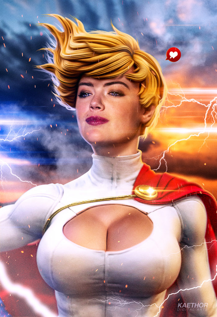 Kate Upton as Power Girl 2 – Digital Arts Poster